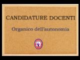 Candidatura Docenti Organico dell'autonomia